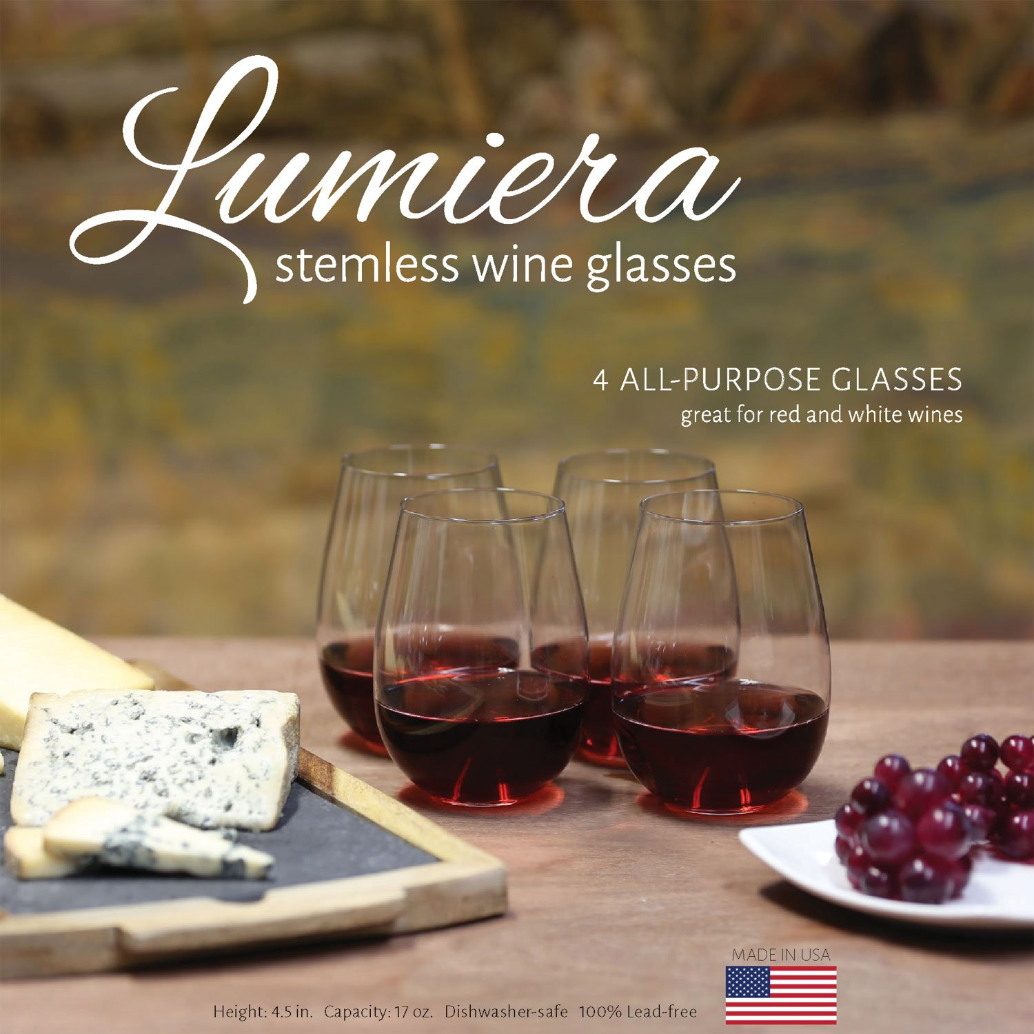 Best Dishwasher For Wine Glasses Amazoncom Stemless Wine Glasses By Lumiera Perfect Wine