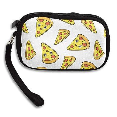 Amazon.com: Pizza - Monedero con cremallera y bolsillo para ...