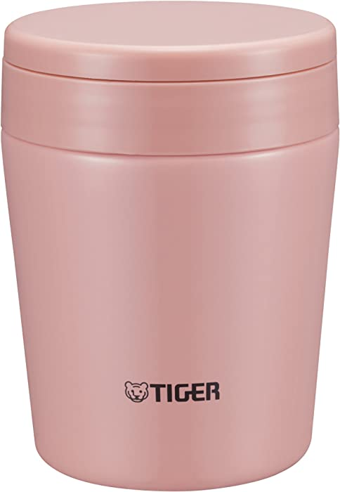 Tiger MCL-A030 PC Vacuum Insulated Thermal Soup Cup, Stainless Steel, Wide Mouth, 10 oz/0.30L, Cream Pink