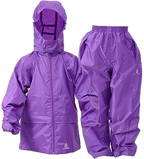 DRY KIDS Waterproof Rainsuit Purple 9//10yrs