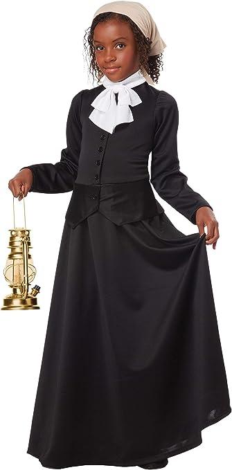 California Costumes Susan B. Anthony/Harriet Tubman Girl Costume, One Color, Medium