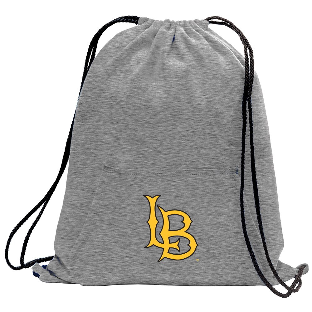 Promoversity NCAA Long Beach State 49Ers Adult Sweatshirt Cinch Bag,17.75'' x 14.5'',Athletic Heather