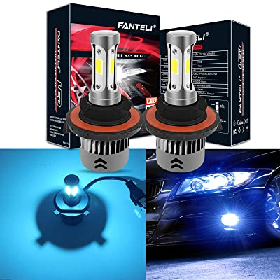 FANTELI H13/9008 8000K Ice Blue 3-Sided LED Headlight Bulbs All-in-One Conversion Kit - 72W 8000lm Dual Hi/Lo Beam Extremely Bright: Automotive [5Bkhe1006681]