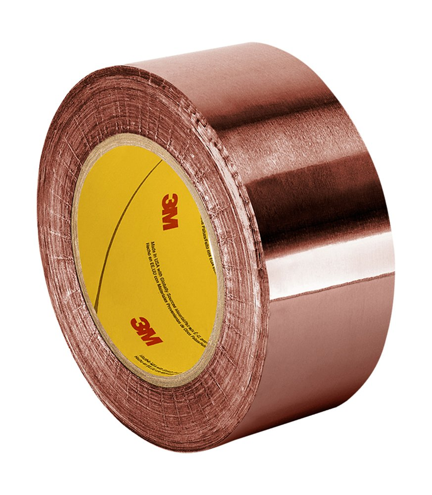 TapeCase 1181 Copper/Acrylic Adhesive, Foil Tape with Conductive Adhesive-Converted from 3M, 18 yds Length, 3'' Width