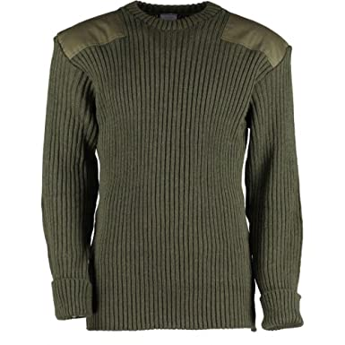 a995aac10 Amazon.com  British Commando Sweater Woolly Pully Crew Neck  Clothing