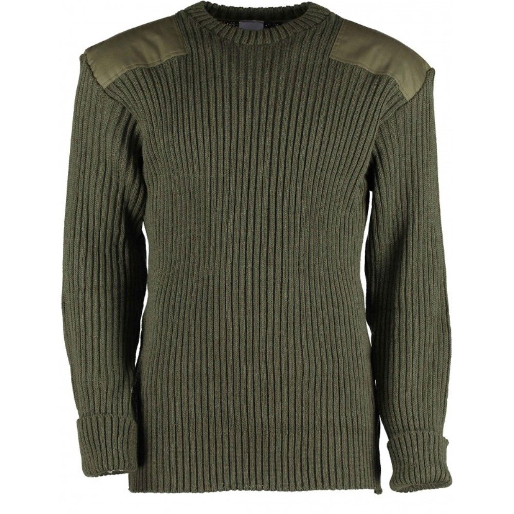 British Commando Sweater Woolly Pully Crew Neck