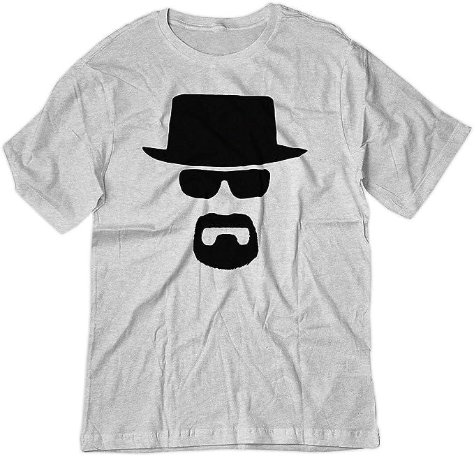 BSW Men s Heisenberg Walter White Breaking Bad Black Hat Shirt XS Ash Grey 4450fb18e82