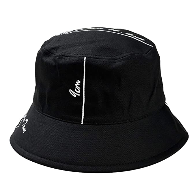 25271d8c5187ae Amazon.com: Outdoor Fisherman Hat Unisex Printing Letter Hat Fashion Wild  Sun Protection Cap Bucket Hat: Clothing