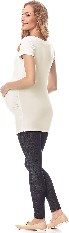 Be Mammy Maglia Premaman a Manica Corta Funzione Allattamento BE20-235