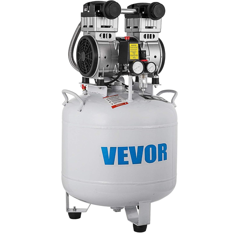 GIOEVO Compressore daria Senza Olio da 6,6 galloni Ultra Silenzioso Serbatoio da 30 Litri Compressore daria Silenzioso Compressore da 850 W Senza Olio Basso Rumore