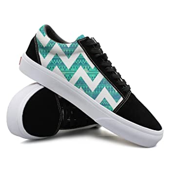 cc6265887dc18 SERHJOI JDYHSGFR Cool Sneakers Tribal Print Turquoise Casual Plate ...