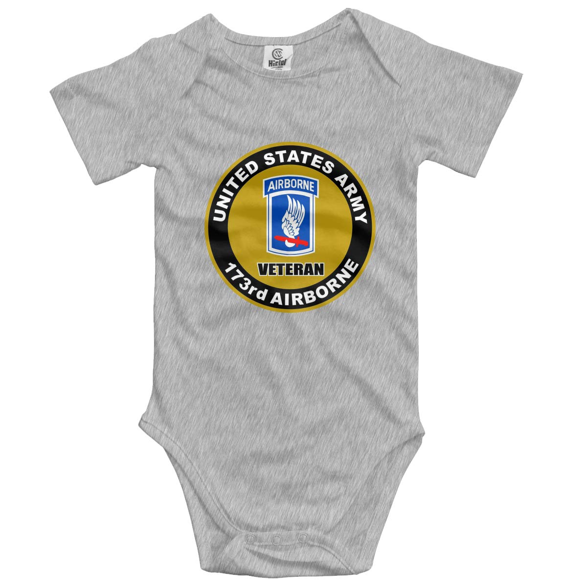 173rd Airborne Brigade Infant Baby Romper Summer Short Sleeve Jumpsuit Pround Gift Gray