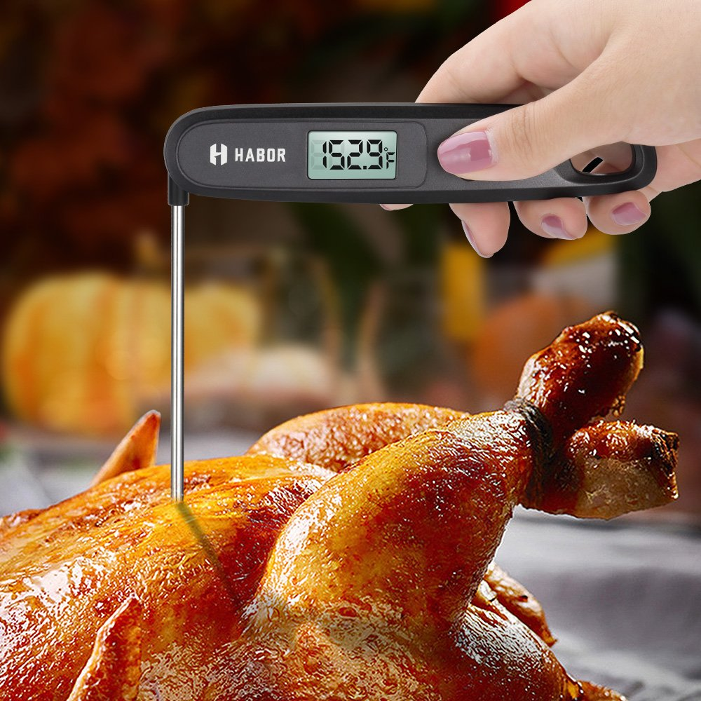 Cooking Thermometer, Habor UPGRADED Meat Thermometer Kitchen Thermometer Instant Read Thermometer with Foldable Probe for Food Baking Liquid Meat BBQ Grill Smokers by Habor (Image #8)