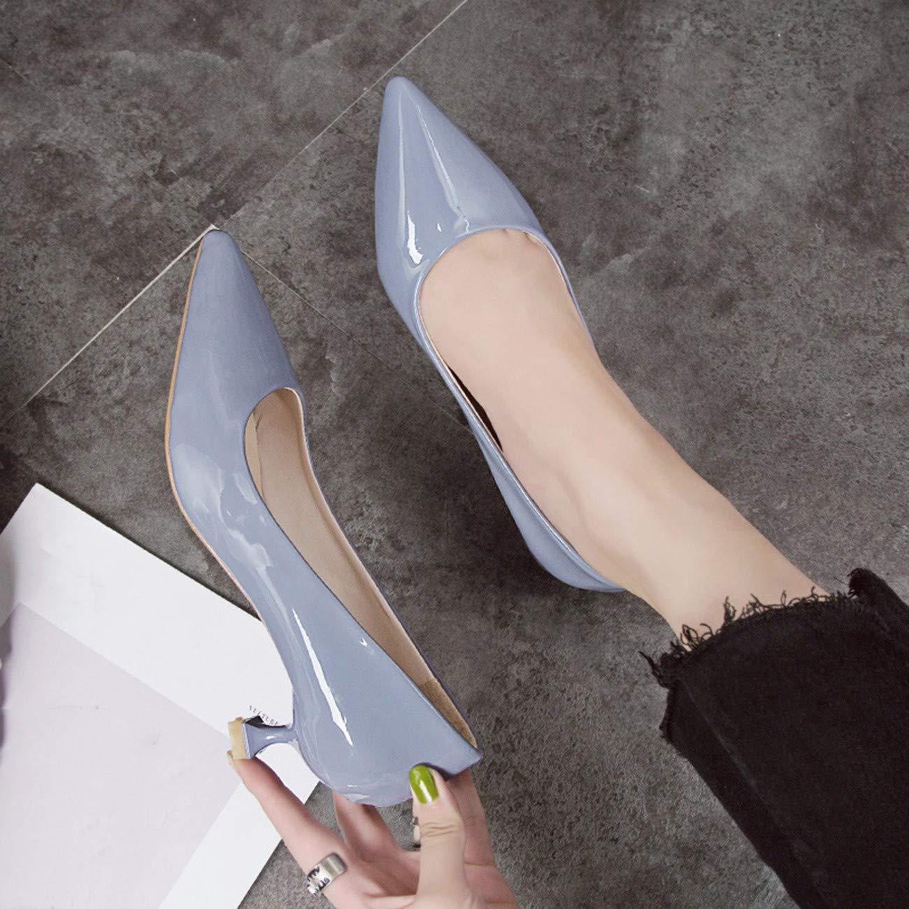 QPGGP-schuhe einzelne Schuh hat Flache einfach Damenschuhe mit mittleren Ferse mäulern und Ferse sind einfach Flache gut und vielseitig 8a5c59