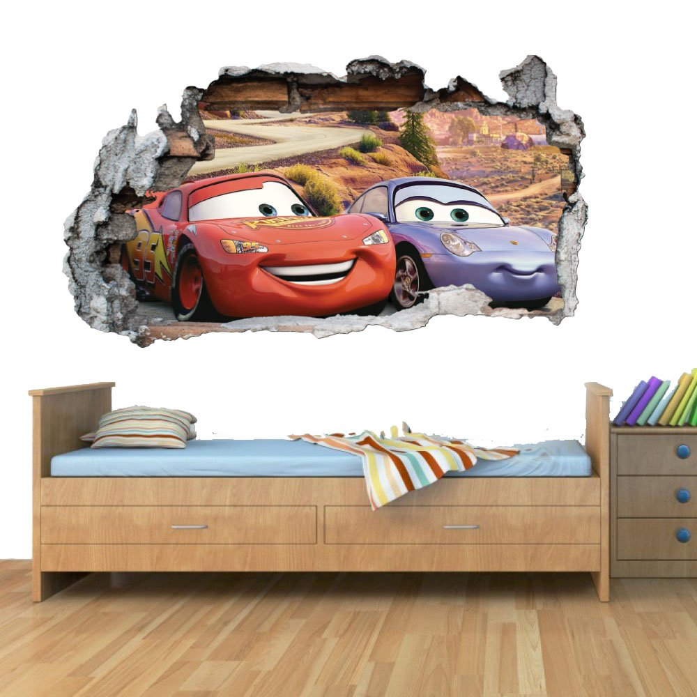 GNG Disney Cars Planes Smashed Wall Art Vinyl Decal Stickers Home Decor Boys Girls Children Bedroom S giZmoZ n gadgetZ
