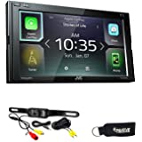 JVC KW-M740BT Compatible with Apple CarPlay, Android Auto 2-DIN AV Receiver (No CD Drive) with Back up Camera
