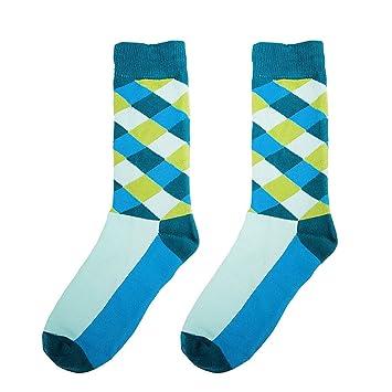 Hombres Coloridos Fantasía Equipo Calcetines De Diseño Azul Claro