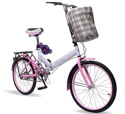 Bicicleta Plegable De 20 Pulgadas Asiento De Bicicleta Amortiguador De Tubo Adulto De Una Sola Velocidad