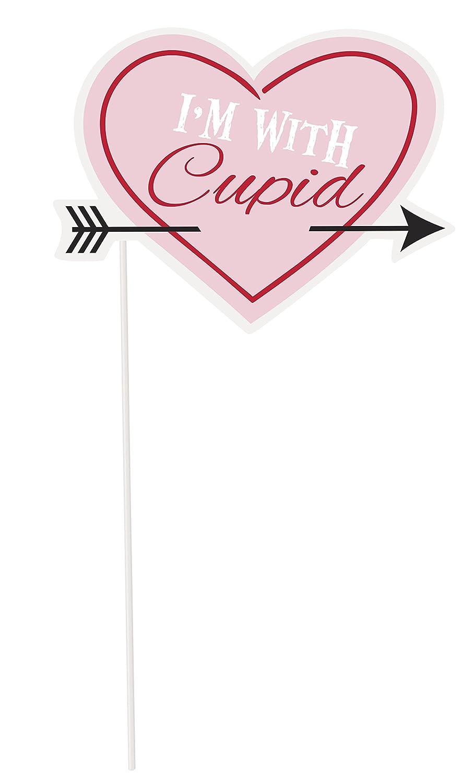 Unique Party 62624 - Valentines Photo Booth Props, Paquete de 10 ...