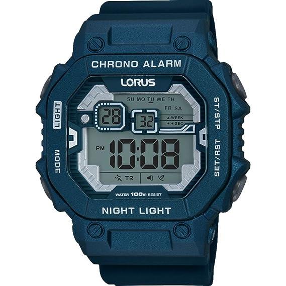 Lorus R2399KX9 - Reloj de pulsera hombre, Silicona, color Azul: Amazon.es: Relojes