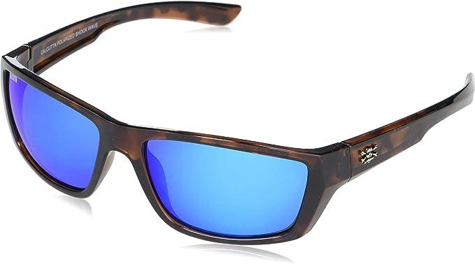 Calcutta Fishing Rip Tide Black Frame Blue Mirror Polarized Sunglasses