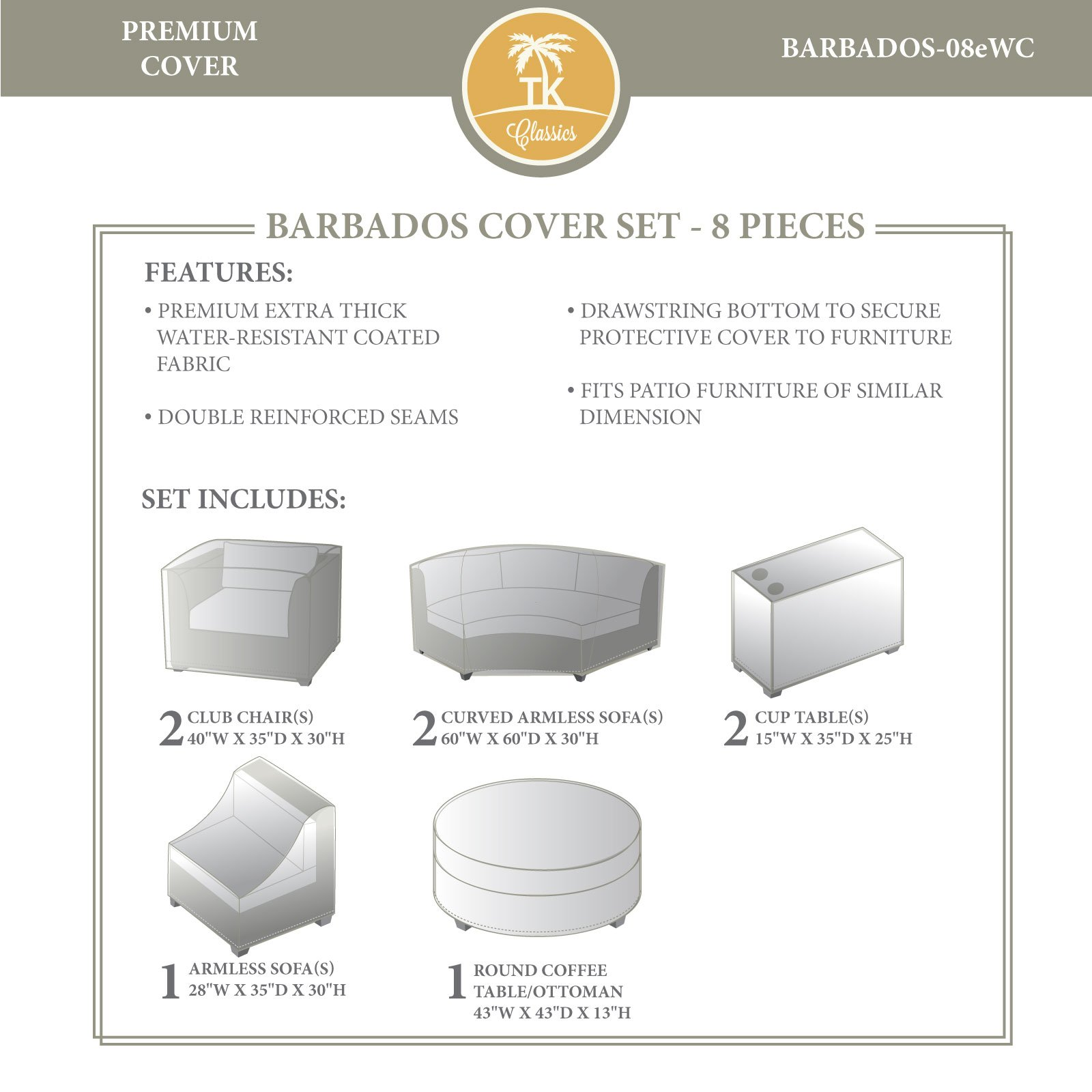 TK Classics Barbados Winter Cover Set 08eWC
