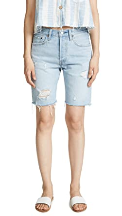 f0cc829d54 Levi's Women's 501 Slouch Shorts, Slouch Around, Blue, 26 at Amazon ...