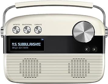 Amazon Com Saregama Carvaan Tamil Sc03 Portable Digital Music Player Porcelain White Home Audio Theater