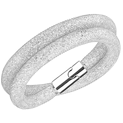 Swarovski Women Stainless Steel Glass Wristwear 5lzEuK6wcA