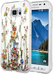 S7 Active Case - Case for Galaxy S7 Active - Cover Compatible for Samsung S7 Active - Art of Nature Flower Print (Flexible TPU Protective Silicone)
