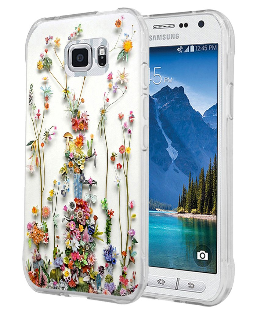 finest selection 21135 a7cb7 S7 Active Case - Case for Galaxy S7 Active - Cover Compatible for Samsung  S7 Active - Art of Nature Flower Print (Flexible TPU Protective Silicone)