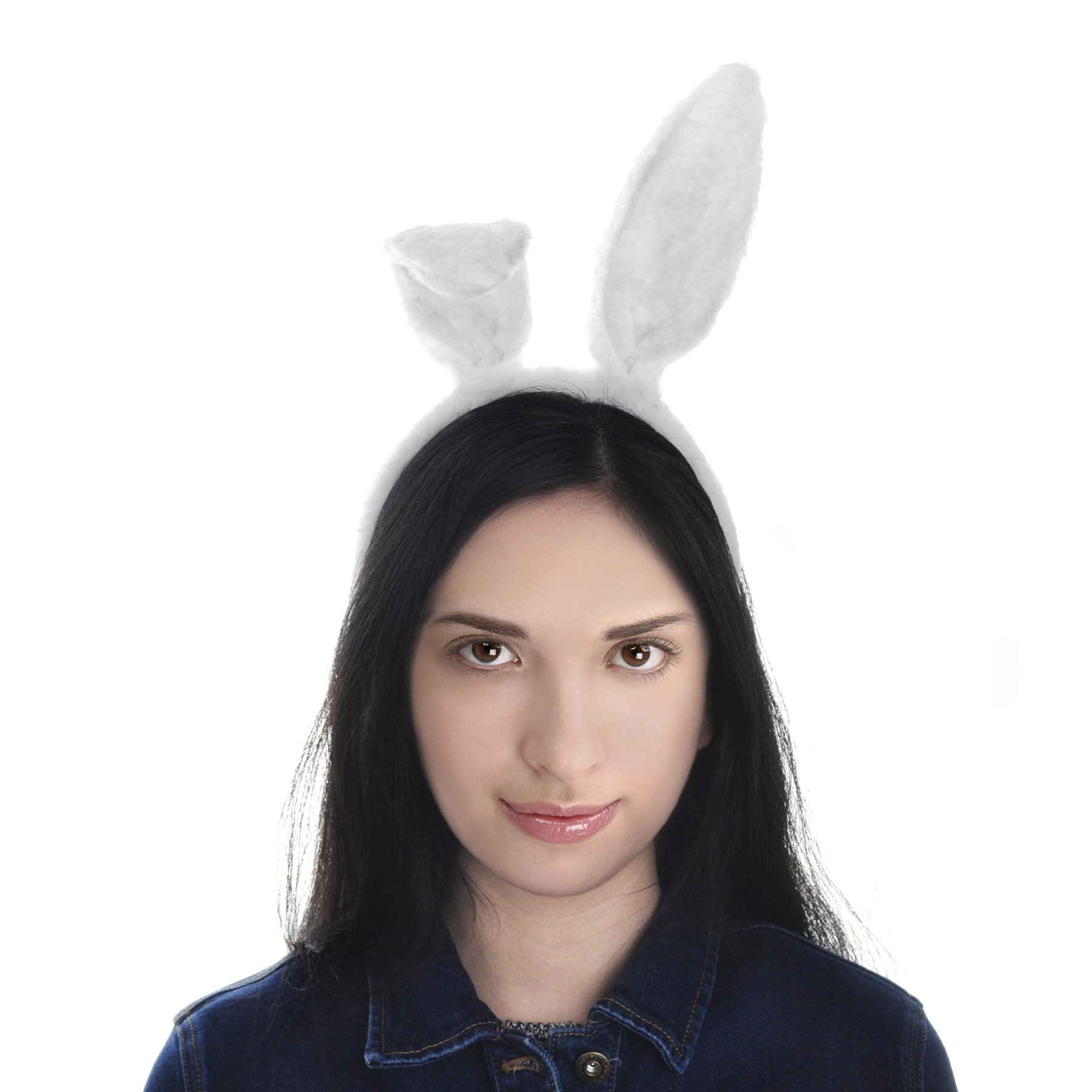 Toptie Easter Bunny Ears Headband, Soft Touch Plush Cosplay Party Suppliers-White-1pc by TOPTIE (Image #9)