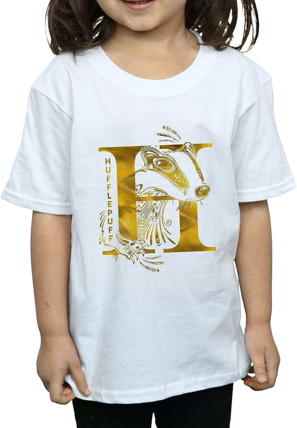 Harry Potter Ni/ñas Hufflepuff Badger Camiseta