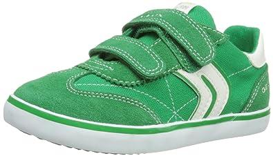 8e8ee480a6fb Geox Boys B Kiwi Boy D Low-Top B42A7D1022C0594 Green/White 7.5 UK Child