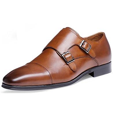 218619a4f91dc DESAI Chaussures de Ville Homme Classique Cuir Souple Noir Marron ...