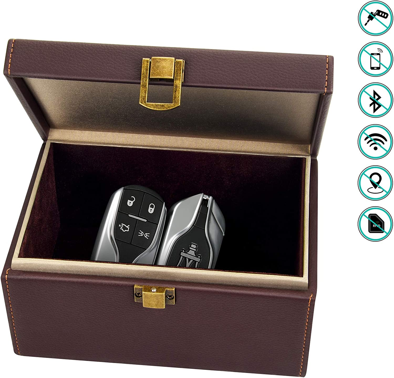Bolatus Faraday Box, Caja de Bloqueo de Señal de Llave de Coche para Llaves de Coche de Entrada sin Llave, Jaula de Bloqueo de Señal RFID Antirrobo, Caja de Almacenamiento Grande -