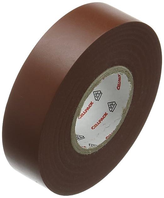 Cellpack longueur x largeur x /épaisseur brun 128 Ruban disolation /électrique en PVC No dimensions 25m x 19mm x 0,15mm