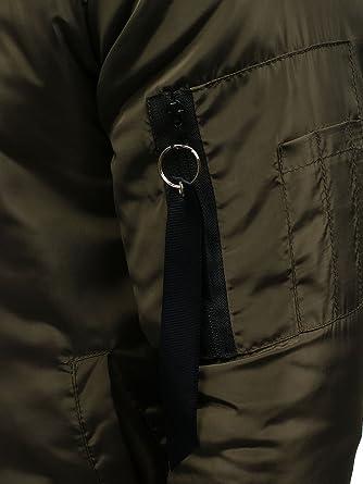 BOLF Hombre Chaqueta Bomber con Cierre De Cremallera J.Style AK95 Verde XXL [4D4]: Amazon.es: Ropa y accesorios