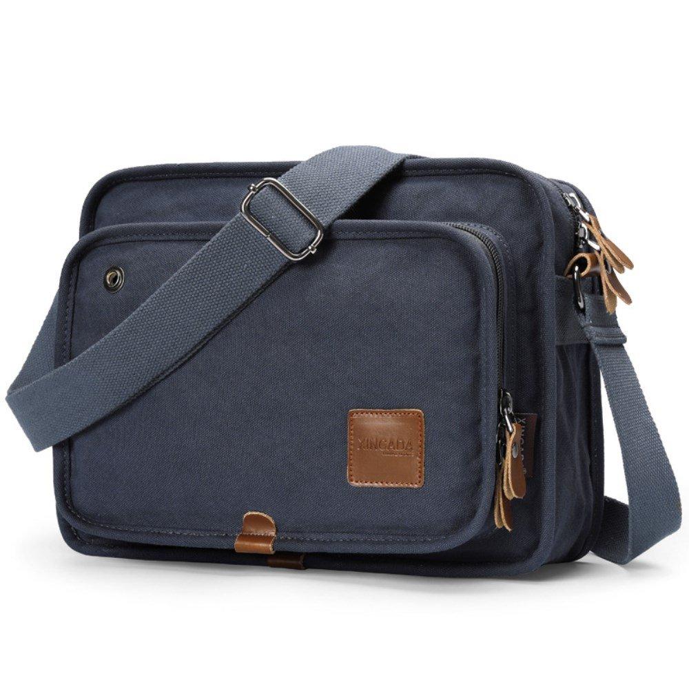 XINCADA Men Bag Messenger Bag Vintage Canvas Shoulder Bag School Bookbag Satchel