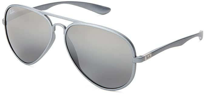 62ecf9a3940 Ray-Ban AVIATOR LITEFORCE - SILVER Frame GREY SILVER MIRROR GRADIENT Lenses  58mm Non-