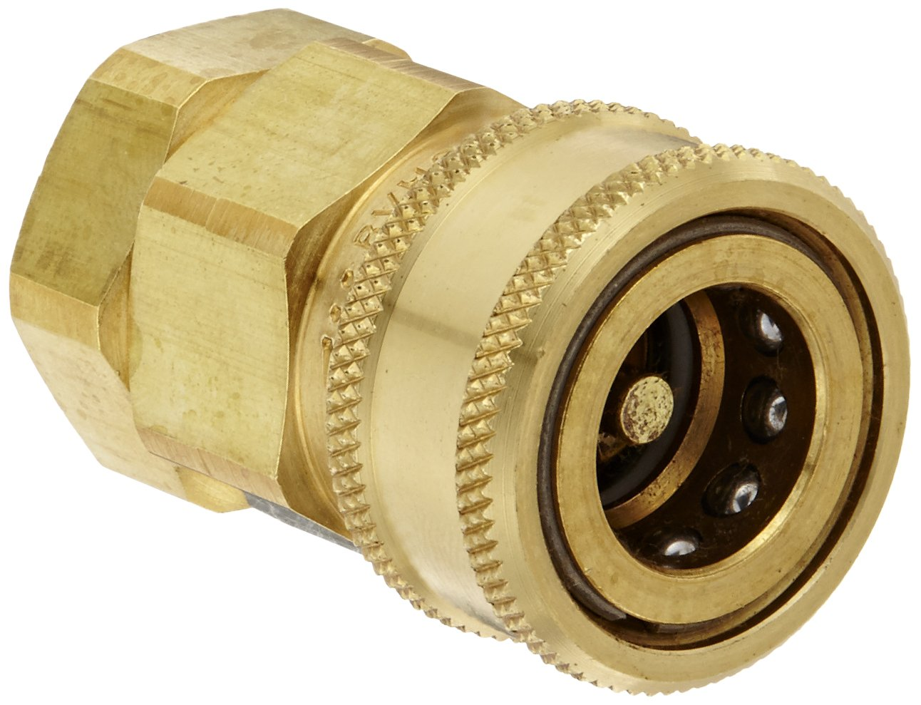 Snap-Tite BVHC8-8F Brass H-Shape Quick-Disconnect Hose Coupling, Sleeve-Lock Socket, 1/2'' NPTF Female x 1/2'' Coupling Size