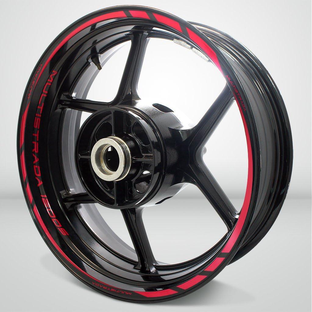 2 Tons Am/éthyste Jante de Moto d/écalcomanies Autocollant Accessoire pour Ducati Multistrada 1200S