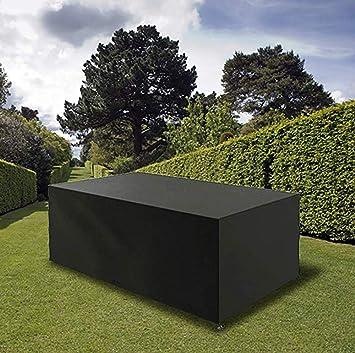 Muebles de jardín cubre la plaza impermeable, Cubo Rattan juego de tapas anti-UV Heavy Duty 210D Oxford material de la tela for el patio al aire libre Tabla Sofá (Size : 242x162x100CM):