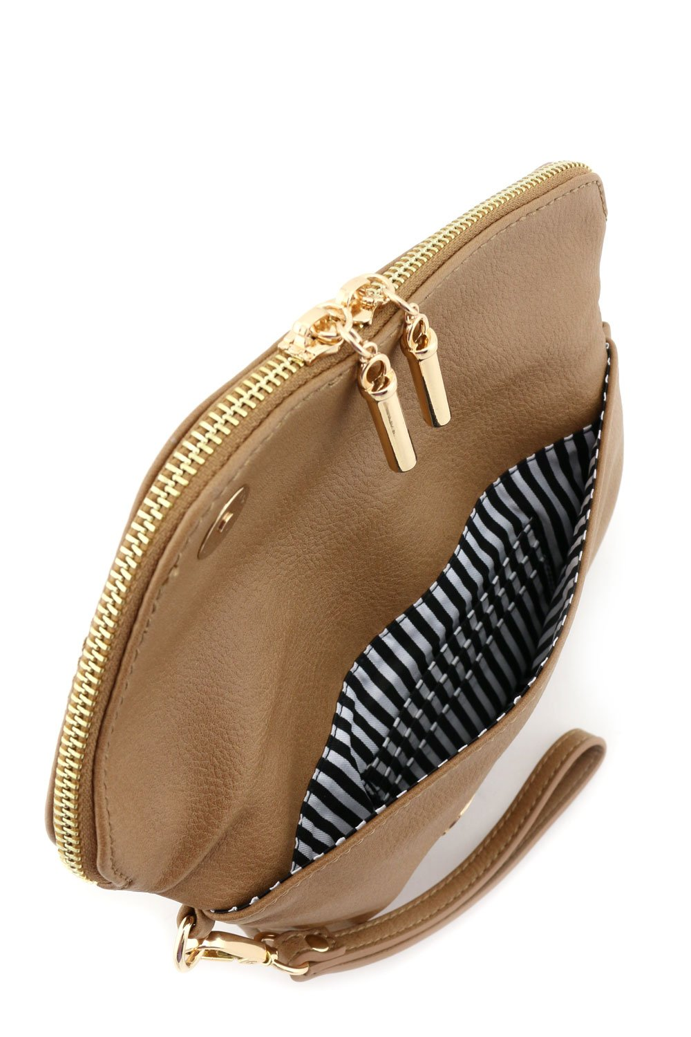 Envelope Wristlet Clutch Crossbody Bag with Chain Strap Stone by FashionPuzzle (Image #5)