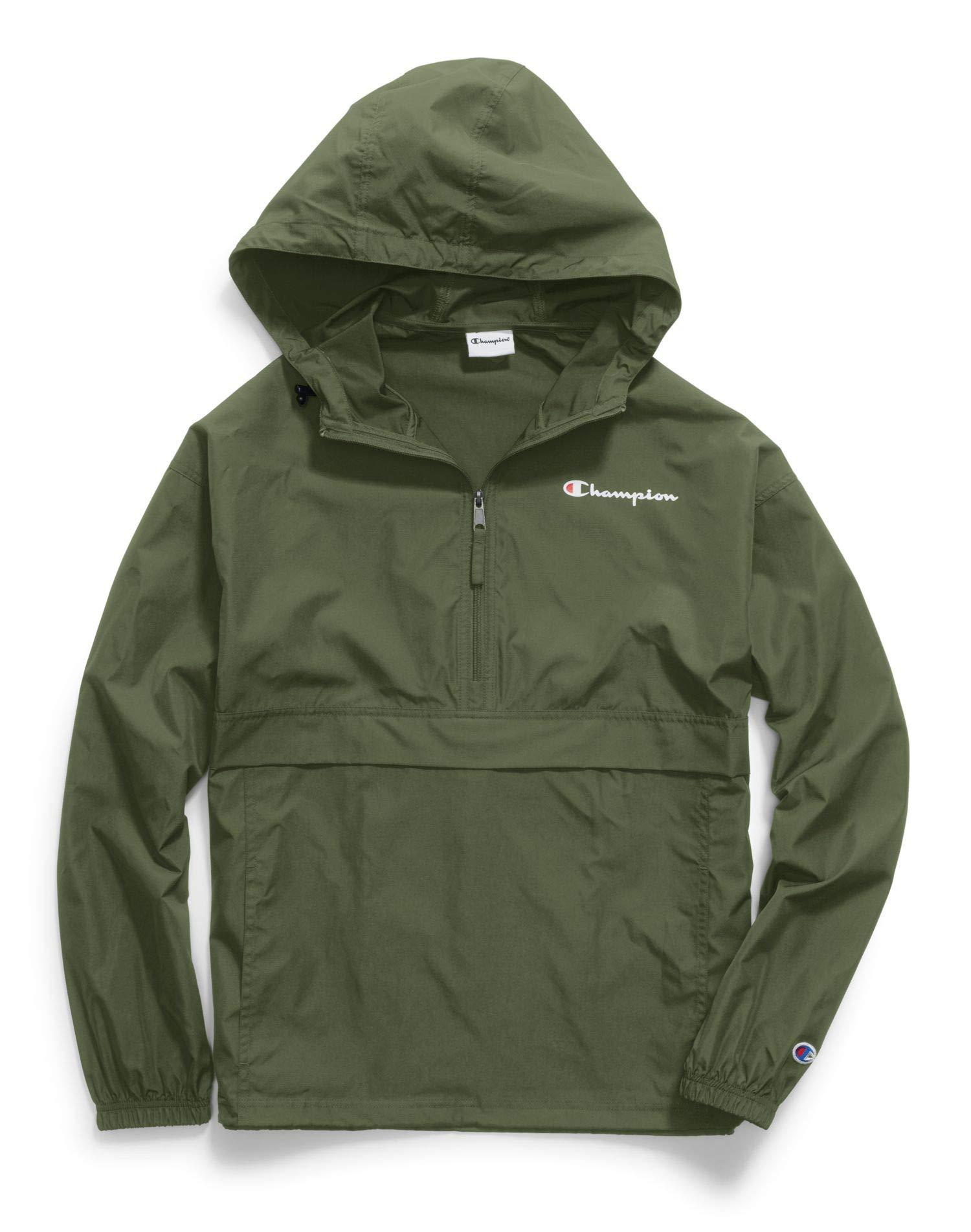 Champion Mens Packable Jacket (V1012 549369) -Cargo Oliv -M