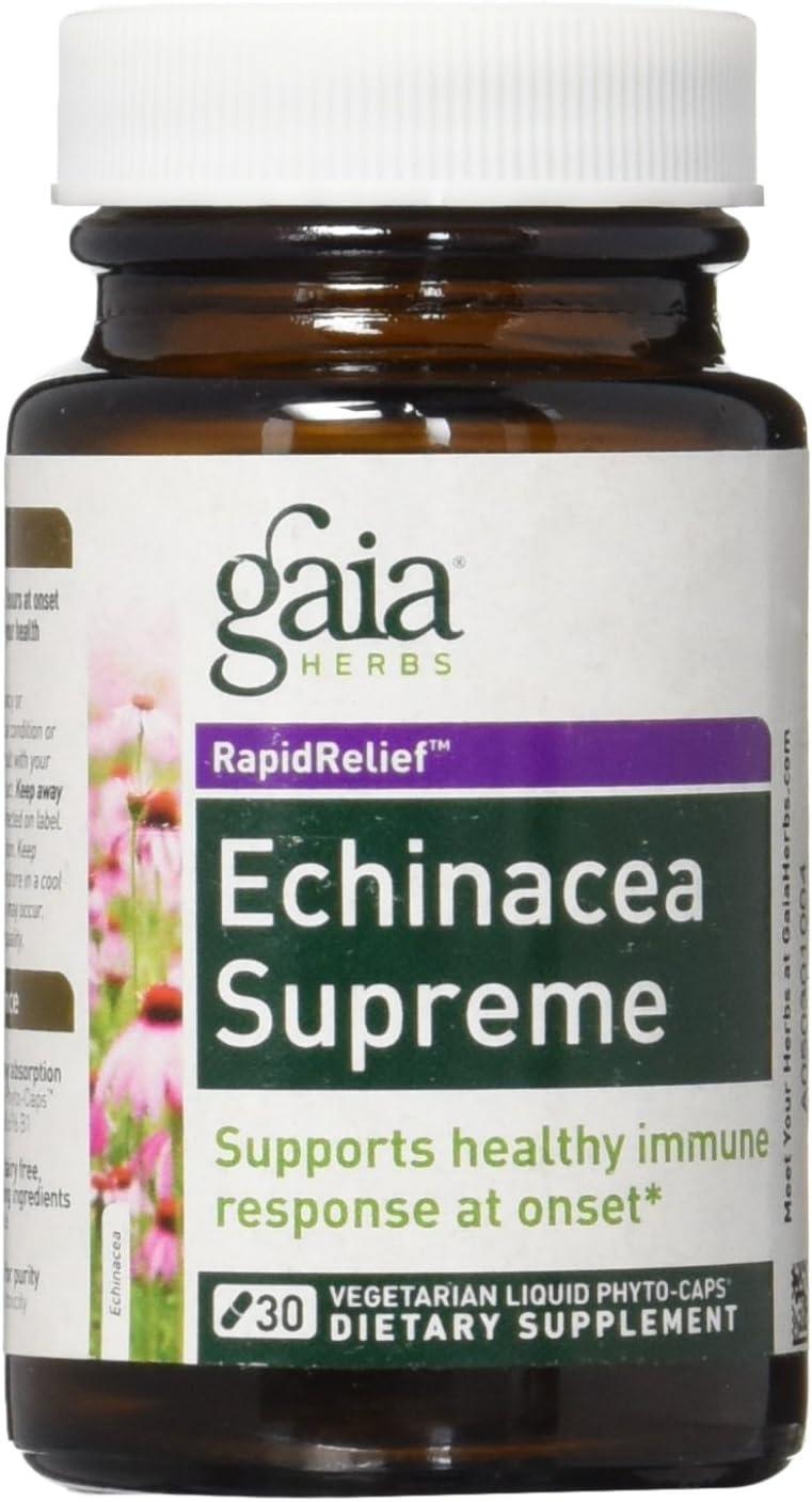Gaia Herbs, Echinacea Supreme Lp, 30 Count