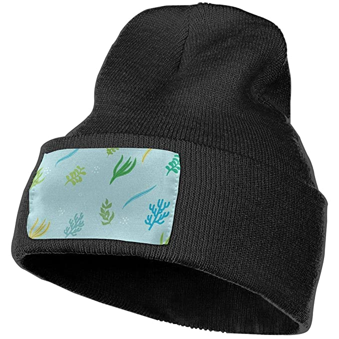 TAOMAP89 Marine Plants Women and Men Skull Caps Winter Warm Stretchy