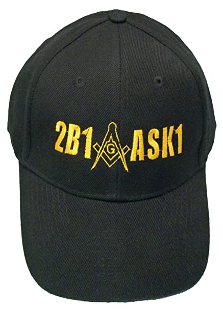 Image Unavailable. Image not available for. Color  2B1ASK1 Mason Baseball  Cap 2B1 ASK1 Freemason Black Hat Mens bfe92cf2d66a