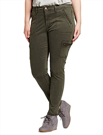 ca672bf6498d5 Ava & Viv Women's Plus Size Utility Jegging Olive Size 26W at Amazon Women's  Jeans store