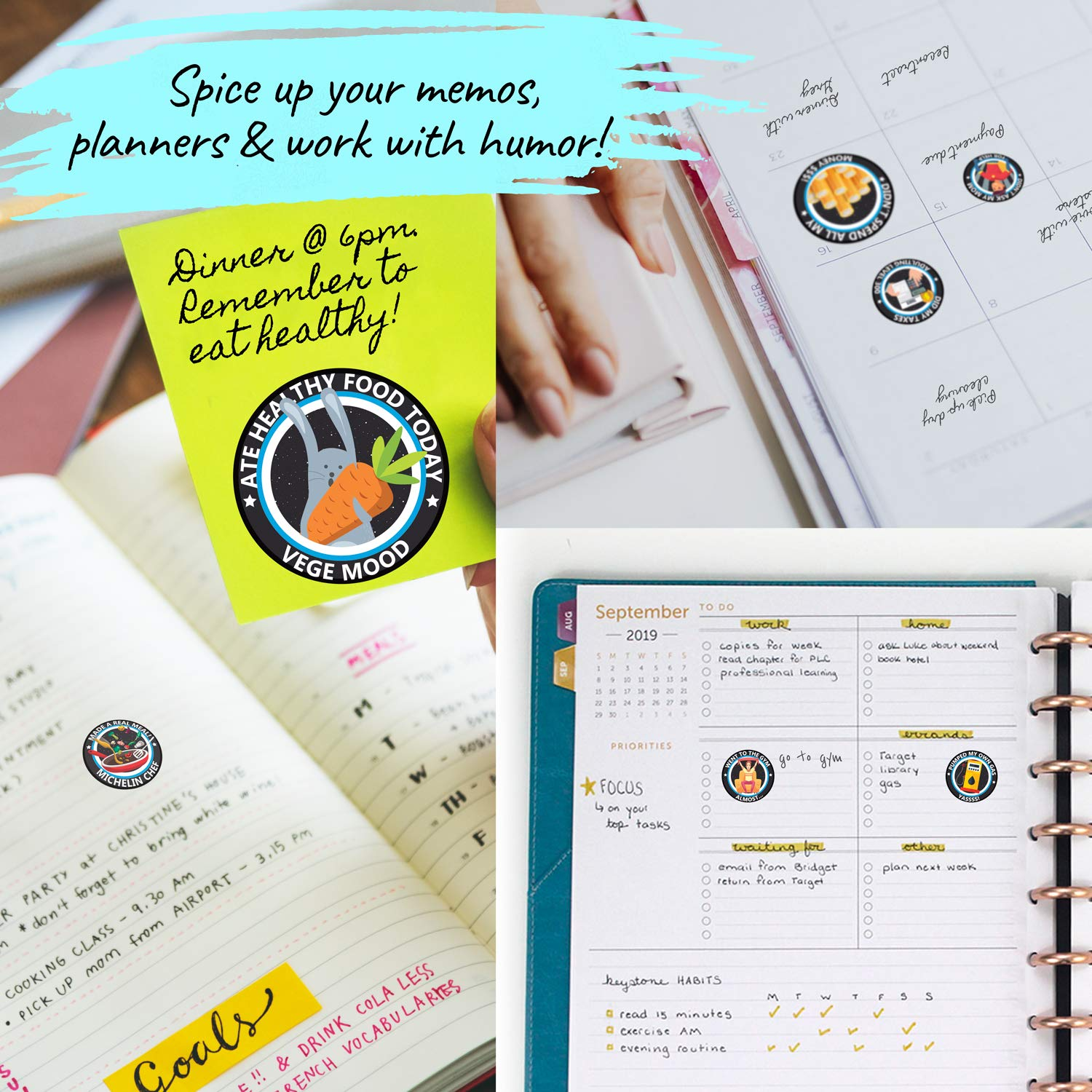 Howcrafts adulting stickers are great for memos, planners and organisers